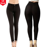 Women High Waist Slim Skinny Jeans Stretch Pencil Denim Pants Lady Trousers 2XL