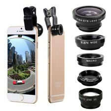 5 in1 Fish Eye Wide Angle Macro Telephoto Lens Camera Kit For iPhone