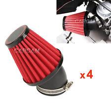 4x 42MM Red Air Filter Pod For Kawasaki KZ 1000 LTD POLICE KZ1000A KZ1000E 79 80