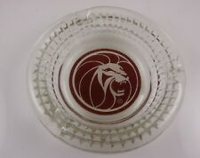 Mgm Las Vegas Casino hotel Vintage glass Ashtray Leo the Lion head round