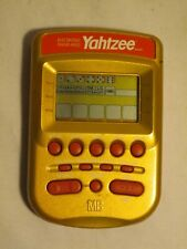 Yahtzee LCD hand held electronic MB Milton Bradley Classic game 2002 Gold