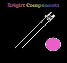 50 x Pink LED 5mm Flat Top - Ultra Bright (6000mcd) - UK - 1st CLASS POST