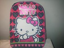 SANRIO HELLO KITTY HEART DESIGN 16 INCH BACKPACK NEW WITH TAG