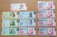 LOT 5 SETS Bougainville set 7 banknotes 2012 UNC Private issue (12552)