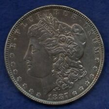 More details for usa, 1887 silver dollar, excellent grade (ref. c8319)