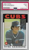 1986 Topps Ryne Sandberg #690 PSA Near Mint HOF MLB Chicago Cubs Free Shipping