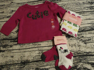 Gymboree Merry & Bright 3-6 Month Leggings Shirt Outfit NWT 0-6 Socks