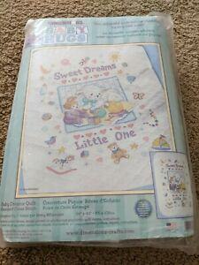 """Dimensions Baby Hugs Baby Dreams Quilt Stamped Cross Stitch Kit 34""""x43"""""""