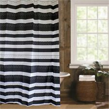 Black white pretty dots stripes fabric shower curtain new free shipping