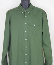 Mens Old Navy Classic Fit Green Button Front Shirt Long Sleeve Size XL XLarge