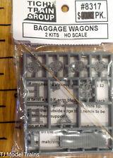 Tichy Train Group HO #8317 Baggage Wagons; 2 Kits