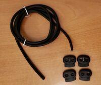 Conductive Silicone Rubber Tubing TENS / ESTIM / E-STIM Machine 4mm OD 1.75mm ID