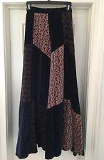 Vintage Belle France Patchwork Maxi Skirt XS S Boho 70s EUC
