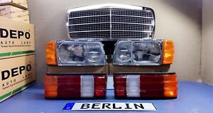 Mercedes Benz W126 Headlights+Signal Lights+Tail Lights+Grille (DEPO - TYC) NEW