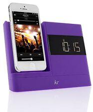 NEU KitSound XDock2 Uhr Radio Dock für Apple iPhone 5/5C/5 S/SE/6/6S/7 - Lila