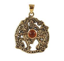 Bronze Odin Sleipnir Pendant - Dryad Design Norse/Viking Rune Talisman/Amulet