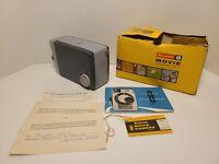 VTG 60's Kodak Brownie 8 F2.7 8mm Movie Camera - Manuals And Original Box
