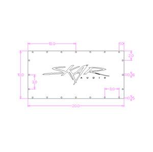 "Your Custom 3D Logo: 20"" X 10"" Plexiglass Viewing Window (3/4"") For Sub Box Amp"