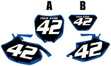 2005-2006 Yamaha WR250F Pre-Printed Black Backgrounds with Blue Shock Series