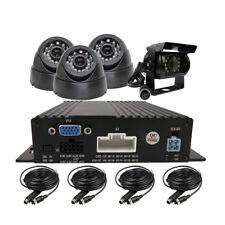 DIY 4CH 720P AHD Real-time 1.0MP Mobile SD Car DVR MDVR Recoder kit 4 IR Camera