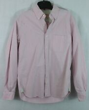 Brooks Brothers men's S vintage L/S supima Easter Pink Green striped shirt