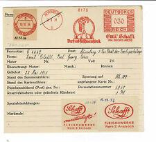 Tracht Fleischerjunge 1931 Nünrberg Schafft Wurst Riess AFS Archivkarte Unikat