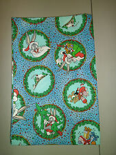 1-Bugs Bunny Holiday/Christmas Colorful & Fun King Size Pillowcase New Handmade!