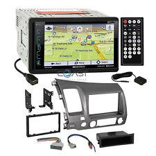 Soundstream DVD Sirius GPS Stereo Taupe Dash Kit Harness for 06-11 Honda Civic