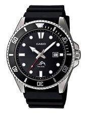Casio Mdv106 Men's Analog Watch Black Resin Band Date 200 Meter WR