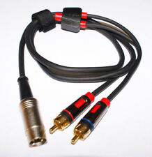 Bang Olufsen Tandberg  DIN to RCA Male Gold Monster Audiophile Cable 1.5m NEW