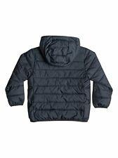 Quiksilver kids puffer jacket black bestseller scaly boys size 4 BNWT