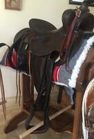 Highly Collectible Original N.Porter Saddle owned by Actor Dale Robertson's Wife