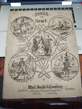 Songs of Home _The Old Log Cabin in the Dell - Antique Sheet Music 1880's-1890's