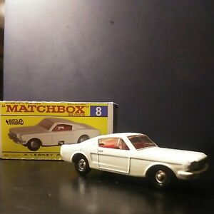 Matchbox RARE FIRST ISSUE #8-E1 Ford Mustang. With silver grill. In Box VNM