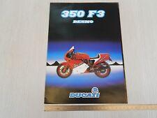 BROCHURE ORIGINALE DUCATI 350 F3 1986 DEPLIANT PROSPEKT