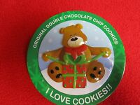 chocolate chip cookie tin with bear I Love Cookies