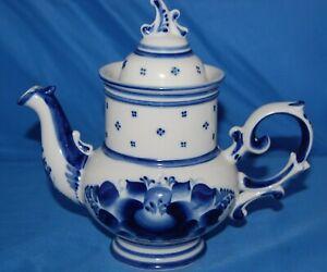 Gzhel tea/coffee pot from Russia