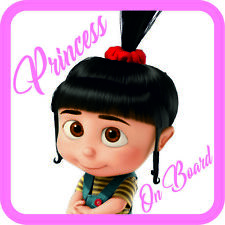 Princess On Board Sticker Vinyl Agnes baby sign for car van Waterproof UV proof