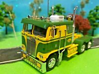 DCP 1/64 Beautiful Green/Yellow, Kenworth K100 Cabover Flat-Top, Semi-Tractor