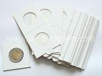 5 Etuis Carton Blancs pour Pièces de Monnaie diamètre au choix 17,5 à 39,5 mm