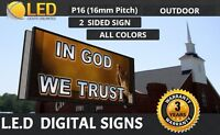 P16 mm (Double Sided) 5FT x 10FT (Full color) LED Digital Sign Board OUTDOOR