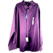 Men's Dockers Shirt XX-Large Cotton Long Sleeve Button Front Collar Purple