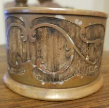 Unique Antique early 1900's  silver co st louis brass coin container?