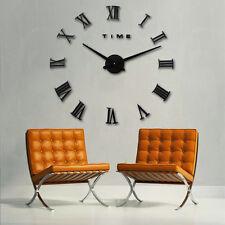 Design Wanduhr schwarz 100cm 3D XXXL Uhr Moderne Selbst gestaltbare römishe Zahl