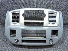 2006-2008 Dodge Ram Main Center Dash Radio HVAC Controls Trim Bezel Silver Slate