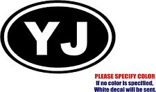 Vinyl Decal Sticker - YJ Jeep Wrangler Car Truck Bumper Window Wall JDM Fun 7""