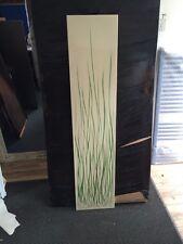 linished rush vertical designer radiator 305/1605 Cream/green