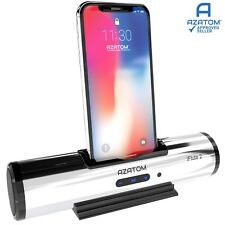 iPhone Docking Station Speaker iPod charger Portable Dock AZATOM iFlute 2 Silver
