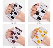 Full Cover Nail Stickers Nails Art Decoration Design Minimalist Nail Sticker set