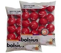 Bolsius Red Floating Candles - Pack of 40